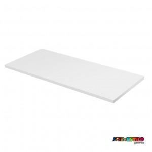 Tampo em MDF Branco para mesa 65 x 117 cm , home office, escrivaninha para cavaletes 50x80