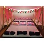 02 Cavaletes Grandes para Bacana Festa do Pijama com prateleira branca- 117x117