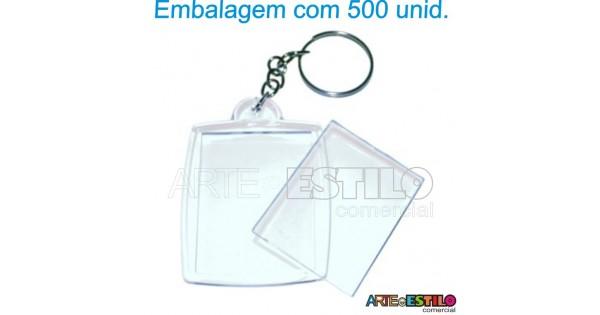Chaveiro em Acrilico para Foto 3x4 Transparente - Emb. c  500 Unid. - So  R 0,48, Arte e Estilo Comercial 8fd8dd12f1