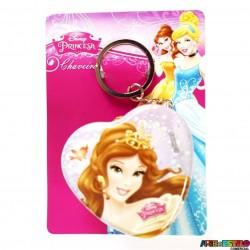 74c57cbbb27f3 Chaveiro Bela Disney de Metal Licenciado modelo Coração Latinha