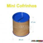 50 Mini Cofrinhos 6 x 7 cm para personalizar - Só R$0,65 cada