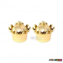 10 Coroas de Acrilico Douradas para lembrancinhas Só R$2,38 cada
