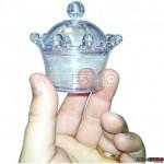 100 Coroas de Acrilico caixinha para lembrancinhas - Cores Diversas