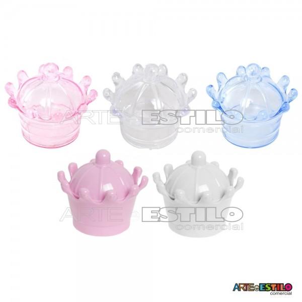 12 Mini Coroas de Acrilico caixinha para lembrancinhas - Só R$0,95 cada