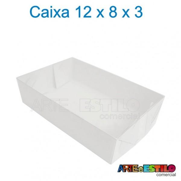 50 Caixas de Acetato 12 X 08 X 03 cm