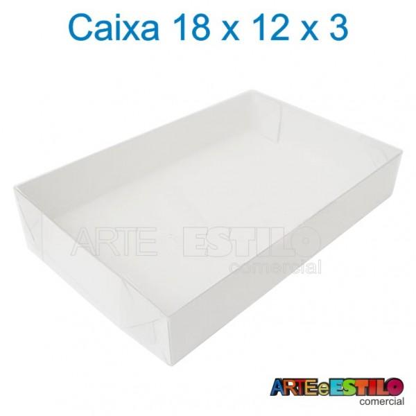 25 Caixas de Acetato 18 X 12 X 03 cm