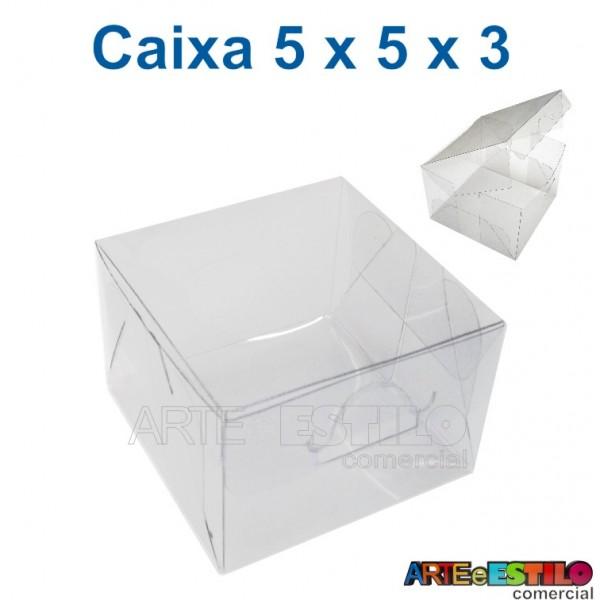 50 Caixas de Acetato para Bem Casados e Macarons 5 X 5 X 3 cm