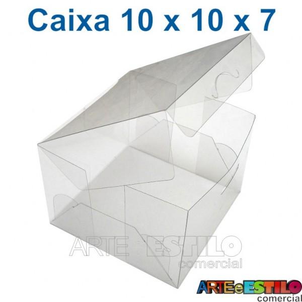 50 Caixas de Acetato 10 X 10 X 7 cm