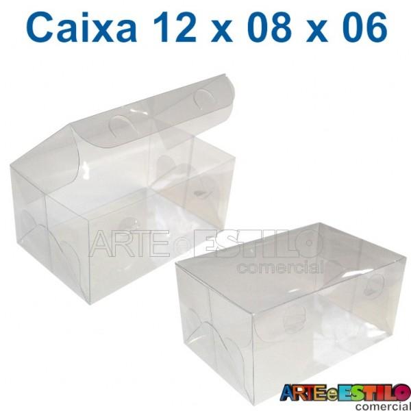 50 Caixas de Acetato 12 X 08 X 06 cm
