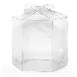 25 Caixas Sextavadas p/ Cup cakes em pet transparente 7,5X7,5X7,5 cm - Só R$0,69 cada