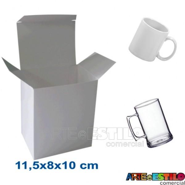 50 Caixas de papelão branco 11,5 x 8 x 10cm p/ Canecas e produtos em geral