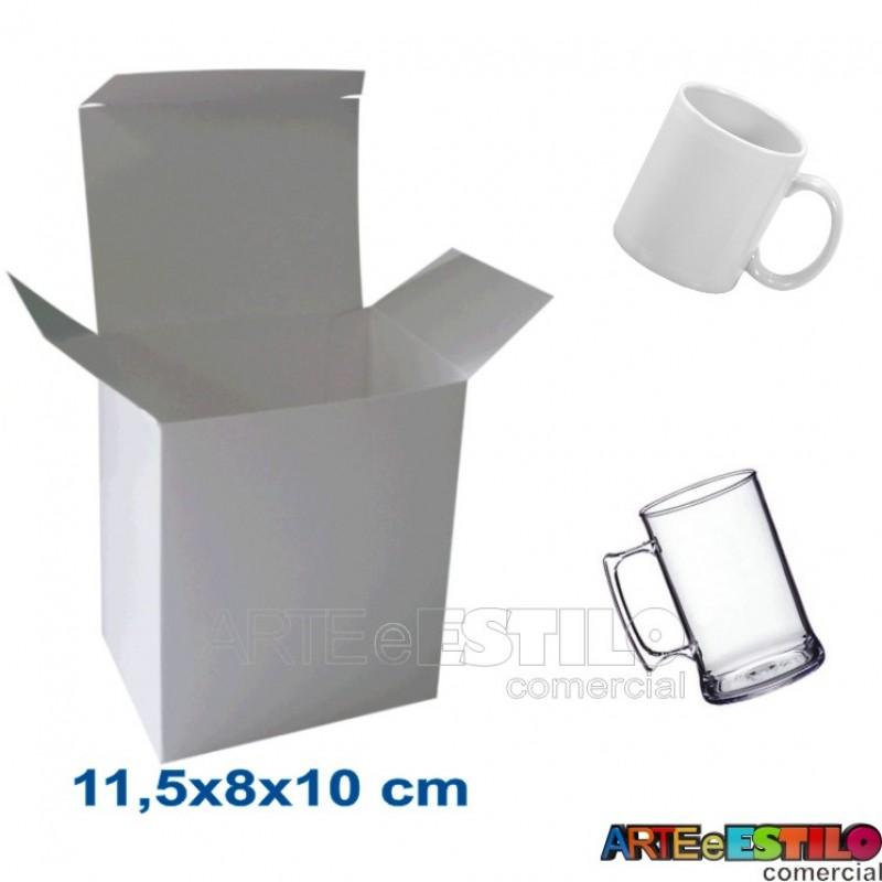 50 Caixas De Papelao Branco 115 X 8 X 10cm P Canecas E Produtos Em