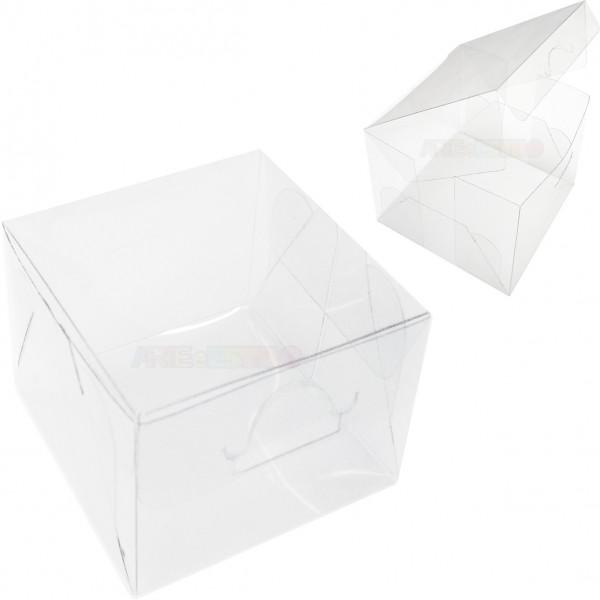 25 Caixas de Acetato 6 X 6 X 6 cm