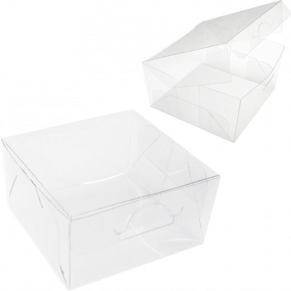50 Caixas de Acetato para Bem Casados e Macarons 5X5X3 cm