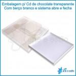 25 Caixas c/ berço para cd de chocolate