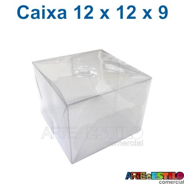 25 Caixas de Acetato 12 X 12 X 09 cm