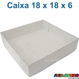 25 Caixas de Acetato 18 X 18 X 06 cm