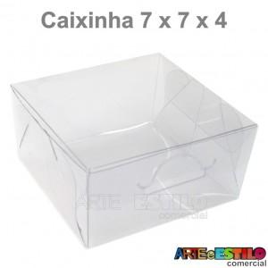 25 Caixas de Acetato para Macaron e Bem Casado 7x7x4 cm