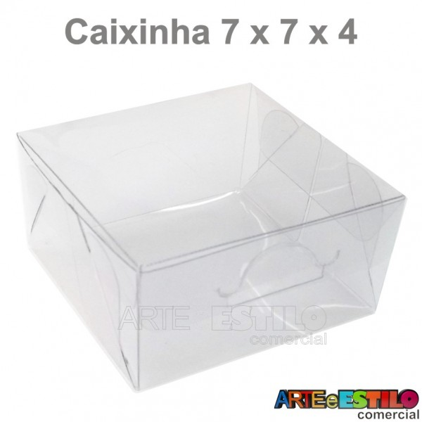 25 Caixas de Acetato para Macaron e Bem Casado 7 x 7 x 4 cm