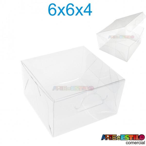 50 Caixas de Acetato para Bem Casados 6 X 6 X 4 cm