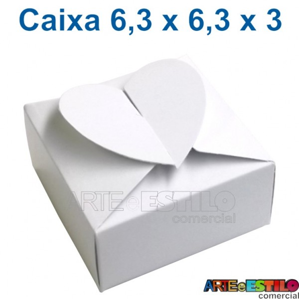 50 Caixinhas Brancas modelo Coração para docinhos, bem casados, lembrancinhas