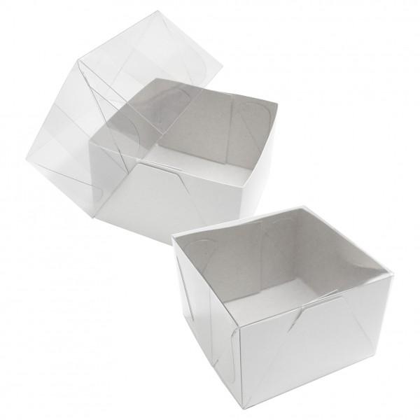 25 Caixas de Acetato e papelão 8X8X5 cm