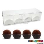 25 Caixas de acetato 15X5X4 cm + 100 Forminhas para doce - Só R$0,88 cada