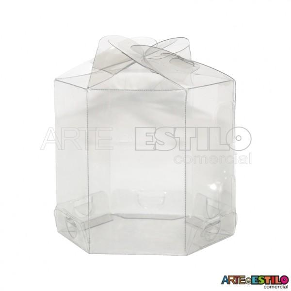 25 Caixas Sextavadas p/ Cup cakes em pet transparente 7,5 cm - Só R$0,69 cada