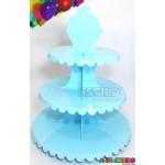 Expositor Suporte com 03 Andares para Cupcakes Docinhos e Lembrancinhas