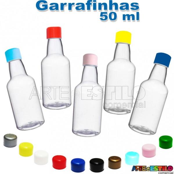 10 Garrafinhas pvc 50 ml com tampa plástica - Só R$0,48 - Diversas Cores