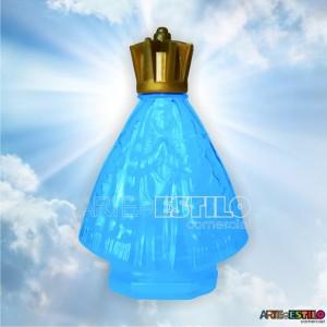 30 Garrafinhas Azul de Nossa Senhora Aparecida 45 ml c/ tampa Corôa - Só R$1,39 cada