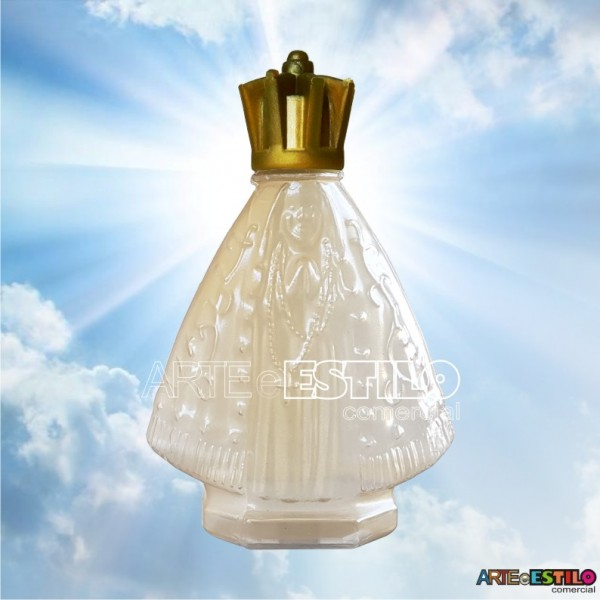 10 Garrafinhas de Nossa Senhora Aparecida tom suave Dourado 45 ml c/ tampa Corôa - Só R$1,19 cada