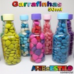 50 Garrafinhas pvc 50 ml com tampa plástica - Só R$0,48 - Diversas Cores