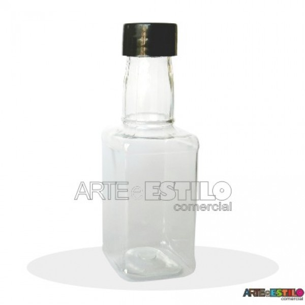 10 Garrafinhas mod. Whisky 50 ml c/ tampa Só R$0,69 cada - Tampa Preta