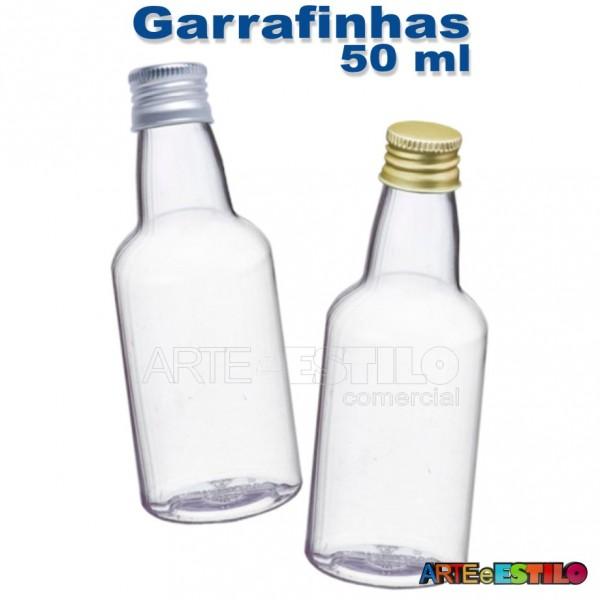 100 Garrafinhas pvc 50 ml com tampa de Metal - Só R$0,48