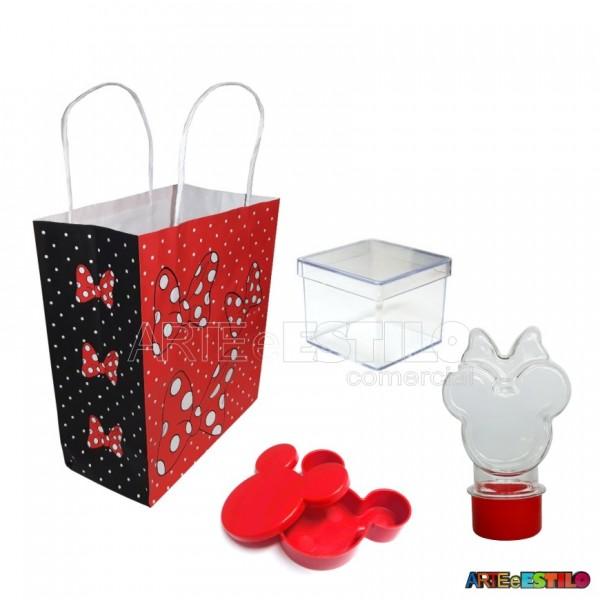 20 Kits de Lembrancinhas Minnie cor Vermelha