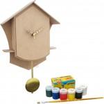 Kit de Pintura Relógio modelo Cuco em MDF Completo para Pintar e Montar
