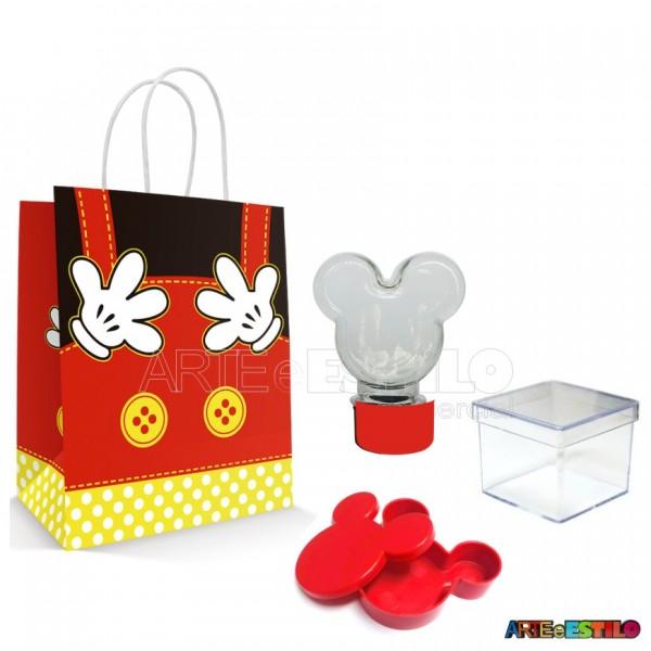 20 Kits de Lembrancinhas Mickey cor Vermelha