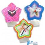 10 Kits de relógios modelo estrela para Mesa