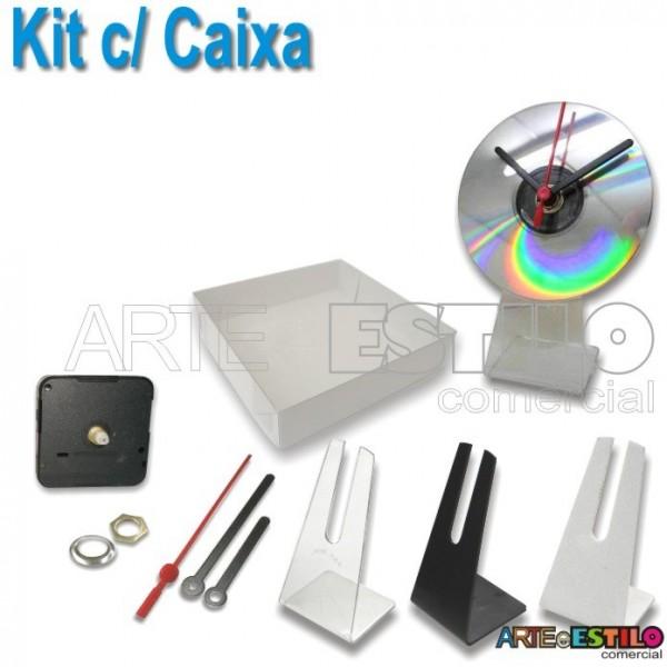 10 Kits para Relógios de cd c/ suporte universal + Caixa para embalagem só R$ 3,69 cada