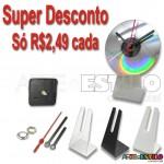 MEGA PROMOÇÃO - Emb 100 Kits para Relógios de cd com suporte universal Branco, Preto ou Transparente -  só R$2,49 cada