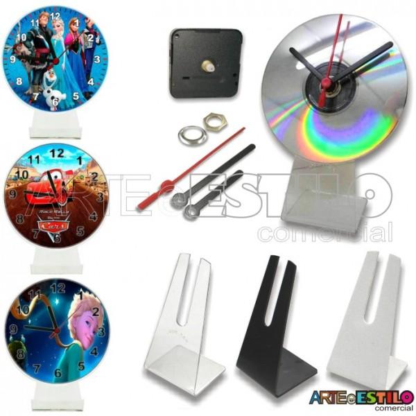10 Kits para Relógios de cd c/ suporte universal - Só R$ 2,59 cada