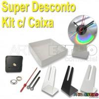 Super Promoção - Embalagem 100 Kits p/ Relógios de cd + Caixa p/ embalagem só R$ 3,49 cada