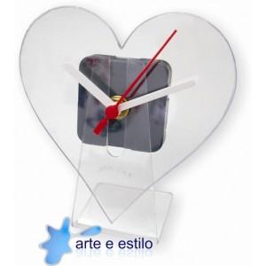 10 Kits de relógios modelo coração para Mesa