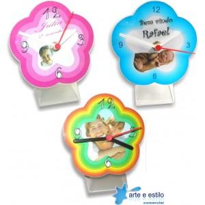 10 Kits de relógios modelo flor para Mesa