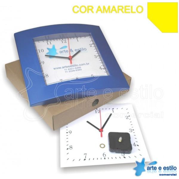 10 Kits de relógios Social Elegance quadrados para imprimir e montar na cor Amarelo R$11,90 cada