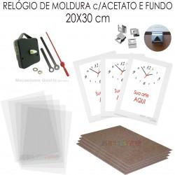 7890992b834 10 Kits de relógio promocional de Moldura para imprimir e montar cor Branca  Reta