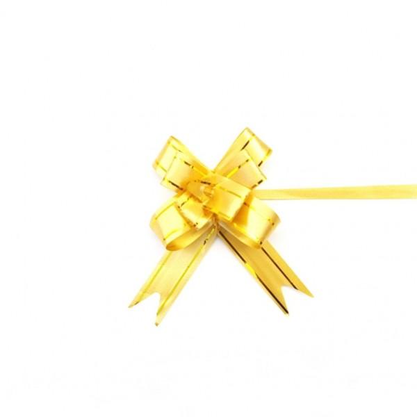 Laço Pronto Dourado com Filete Dourado 15x270 mm - 10 unidades