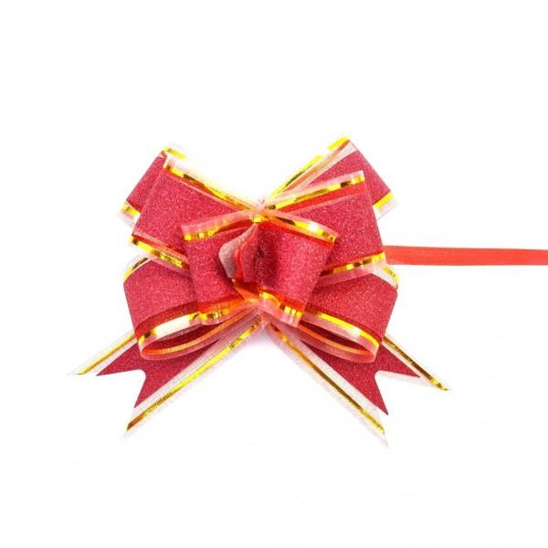 Laço Pronto Vermelho com Brilho 30x480 mm - 10 unidades