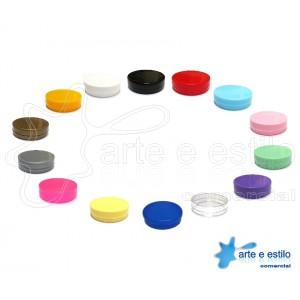 100 Latinhas Plásticas 5X1,5cm - Mint To Be - Cores Diversas
